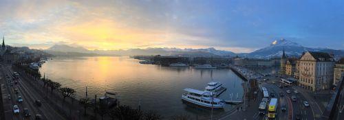 panorama of lucerne lake lucerne region lucerne
