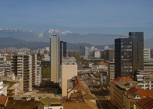 panorama of the city pyran city skyscrapers