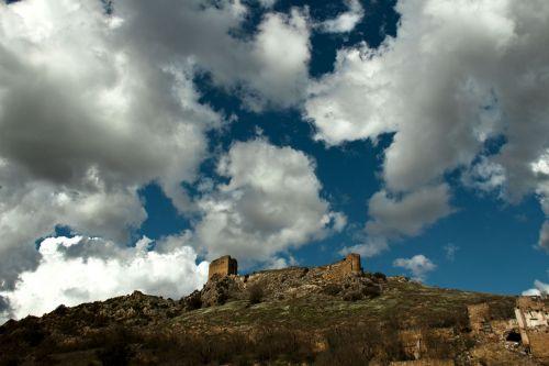 panoramic mountain sky