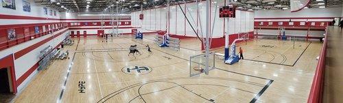 panoramic  indoors  basketball