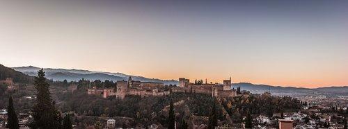 panoramic  alhambra  granada