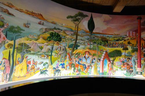 panoramic image painting sandra round image