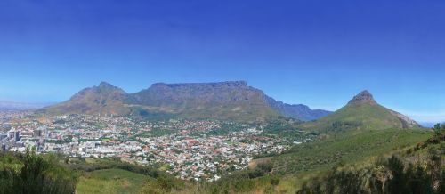 Panoramic Painting Of Cape Town