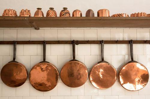 pans copper old