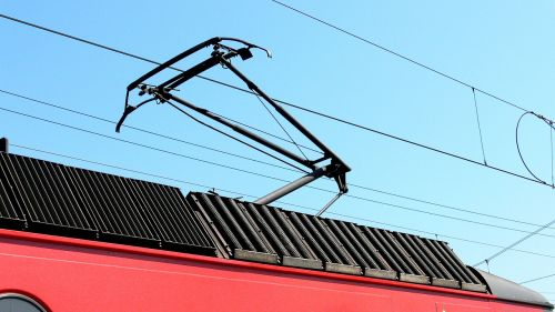 pantograph electric locomotive contact wire