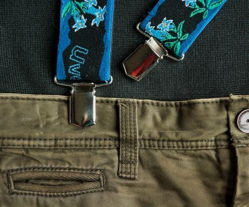 pants suspenders tongs