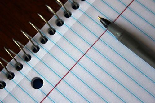 paper pen notebook