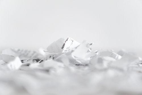 paper shredder flakes