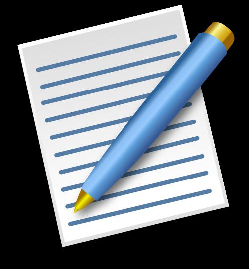 paper pen blue