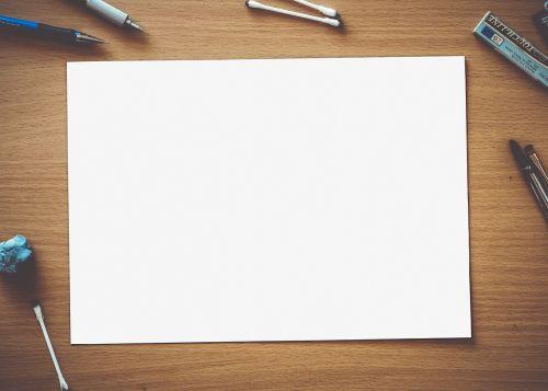 paper blank white