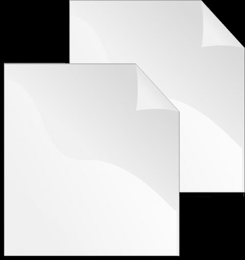 paper duplicate white