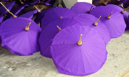 paper purple umbrella