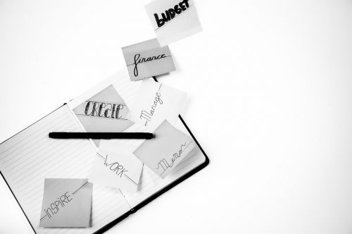 paper business white background