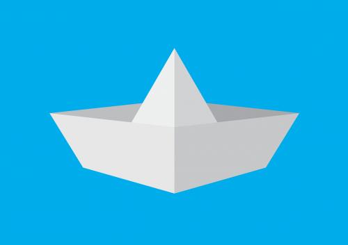 paper rowboat boat