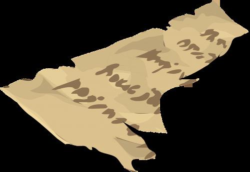 paper manuscript torn