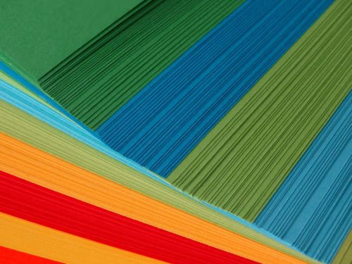 paper paper stack colored paper