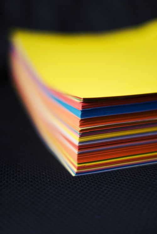 paper cards colorful