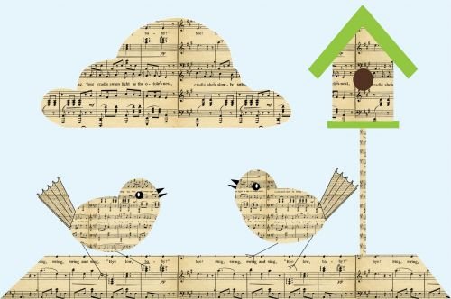 Paper Birds Musical Notes