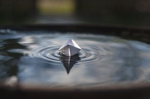 paper boat water afloat