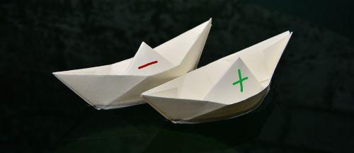 paper boat paper folded