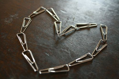 paper-clips paper clips heart