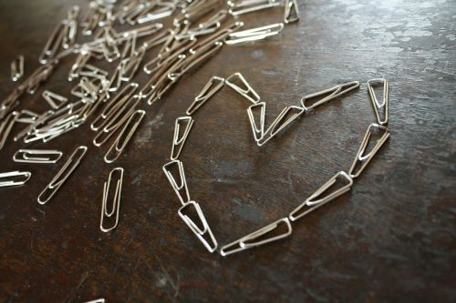 paper-clips heart shape