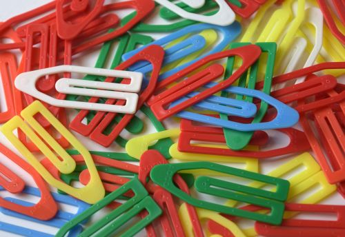 paper clips clips plastic