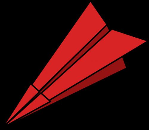 paper plane folded paper dart