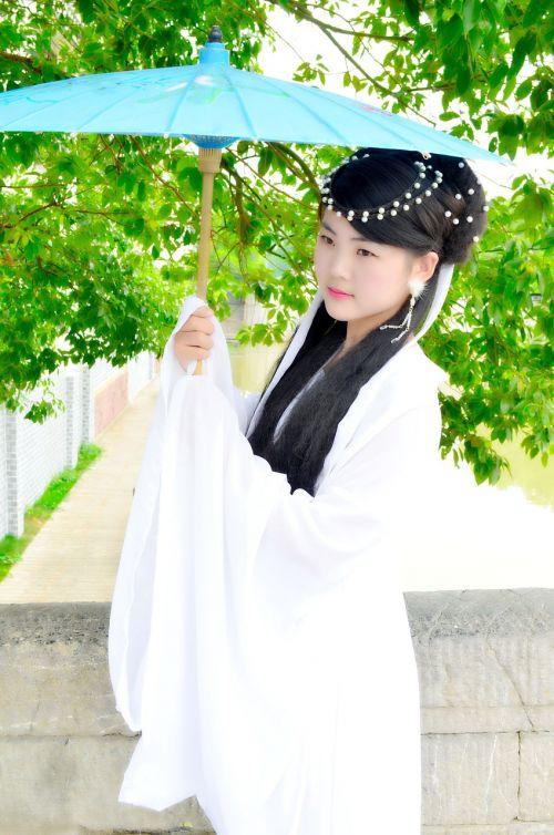 paper umbrella ancient costume art