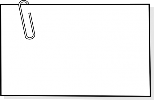 paperclip paper-clip note