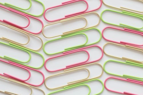 paperclip colour office