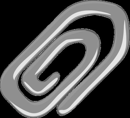 paperclip grey clip
