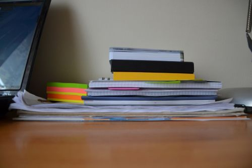 papers books notebooks