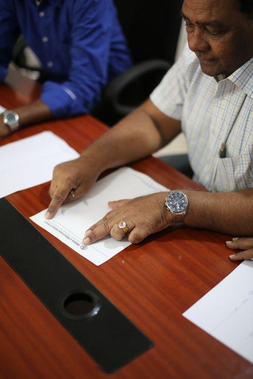 paperwork paper contract