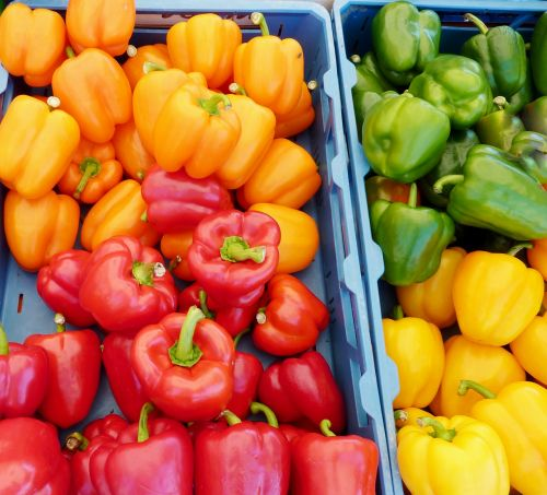paprika yellow red pepper