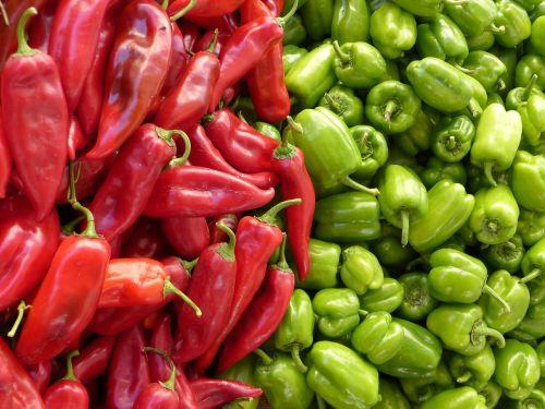 paprika green red