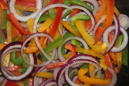 Paprika's And Red Onion