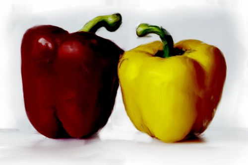 paprika, daržovių, vitaminai, valgyti, dažytos, fonas, paprikos dažytos
