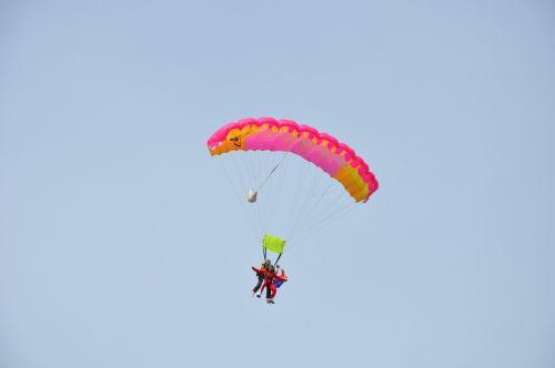 parašiutas,viltis,Himmel