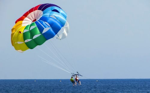 parachute paragliding colours