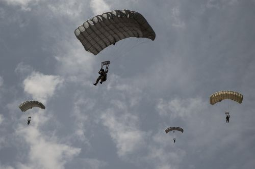 parachute released open