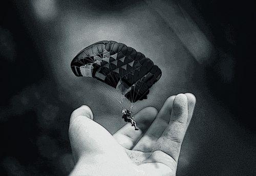 parachute imagination hand
