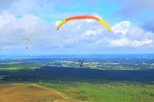 parachute hang gliding fly