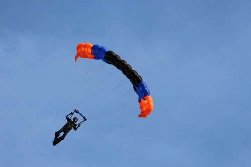 parachute  skydive  parachutist