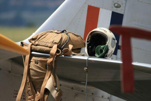 Parachute And Helmet On Tailplane O