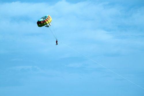 Parachute On The Sea
