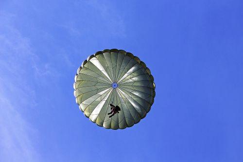 parachutist jump aircraft