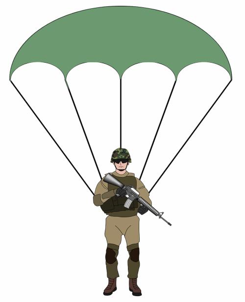 parachutist parachute army