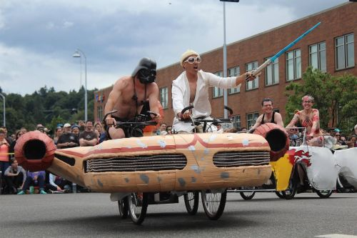 parade costume bicycle