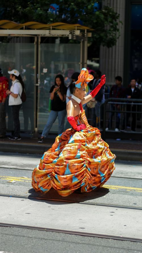 parade transsexual trump dress